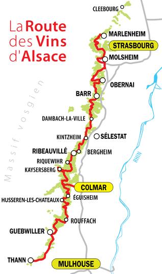 Grand-Est – Découverte route des vins d'Alsace (vélo électrique)