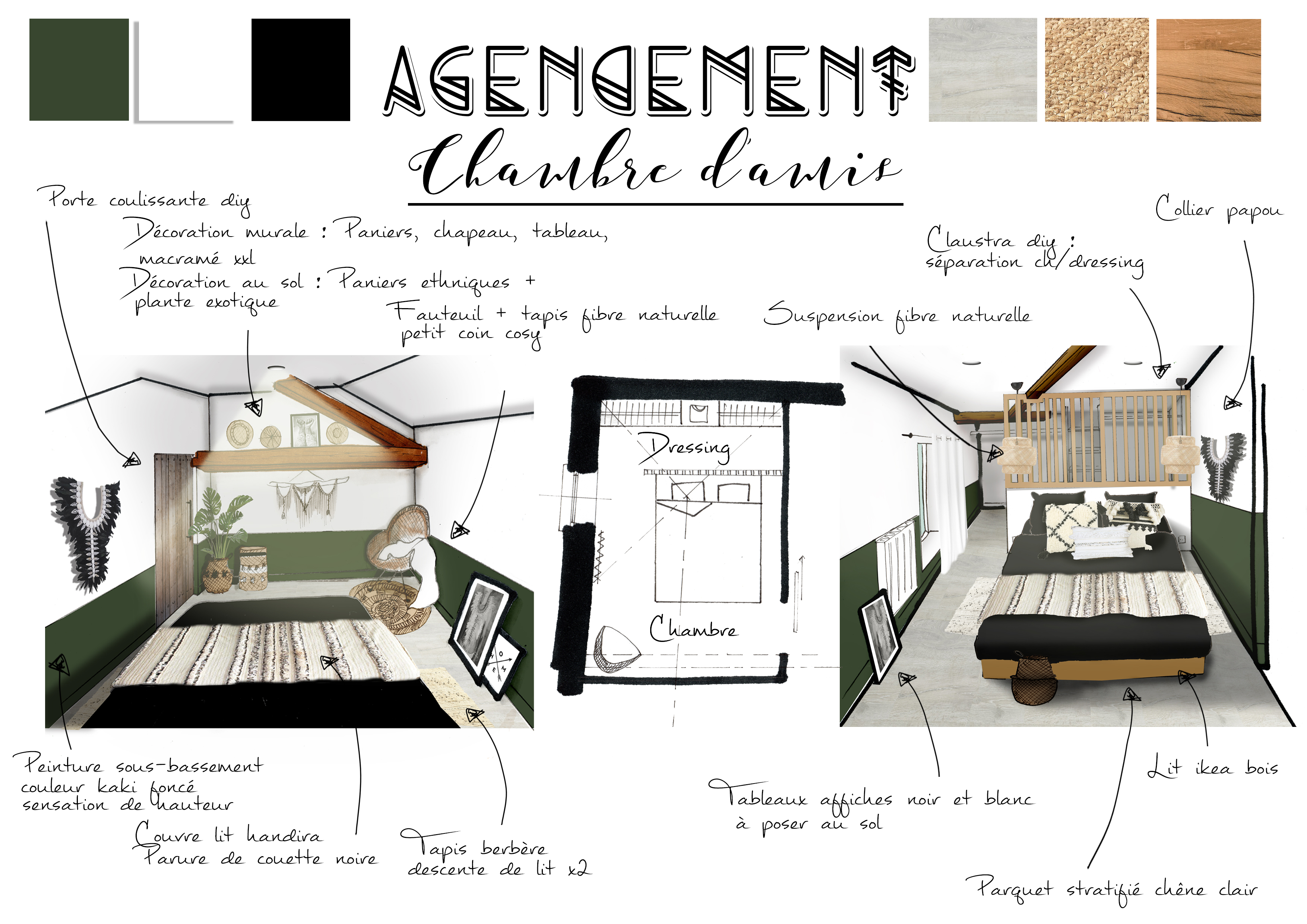 Agencement - Chambre d'amis