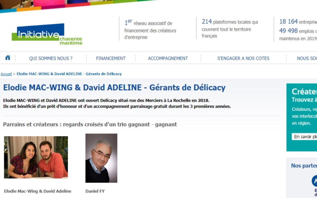 Elodie Mac-Wing et David Adeline Gérants de Délicacy