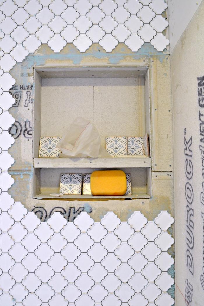 Built In Recessed Shower Shelf A Designer At Home