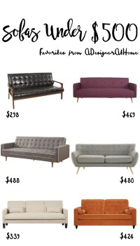 Sofas For Under $500 - A Designer At Home