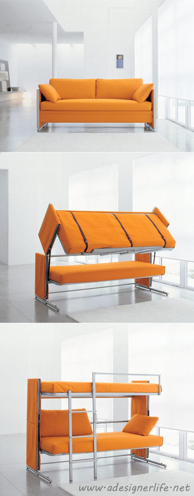 Resource Furniture Convertible Sofa To Bunk Bed   AWESOME! #product_design