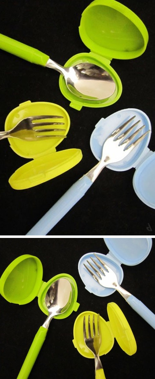 Cutlery covers | perfect for your purse! Awesome! #product_design