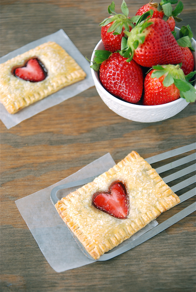 How to make Strawberry Heart Nutella Pop Tarts! | Food Design Inspiration