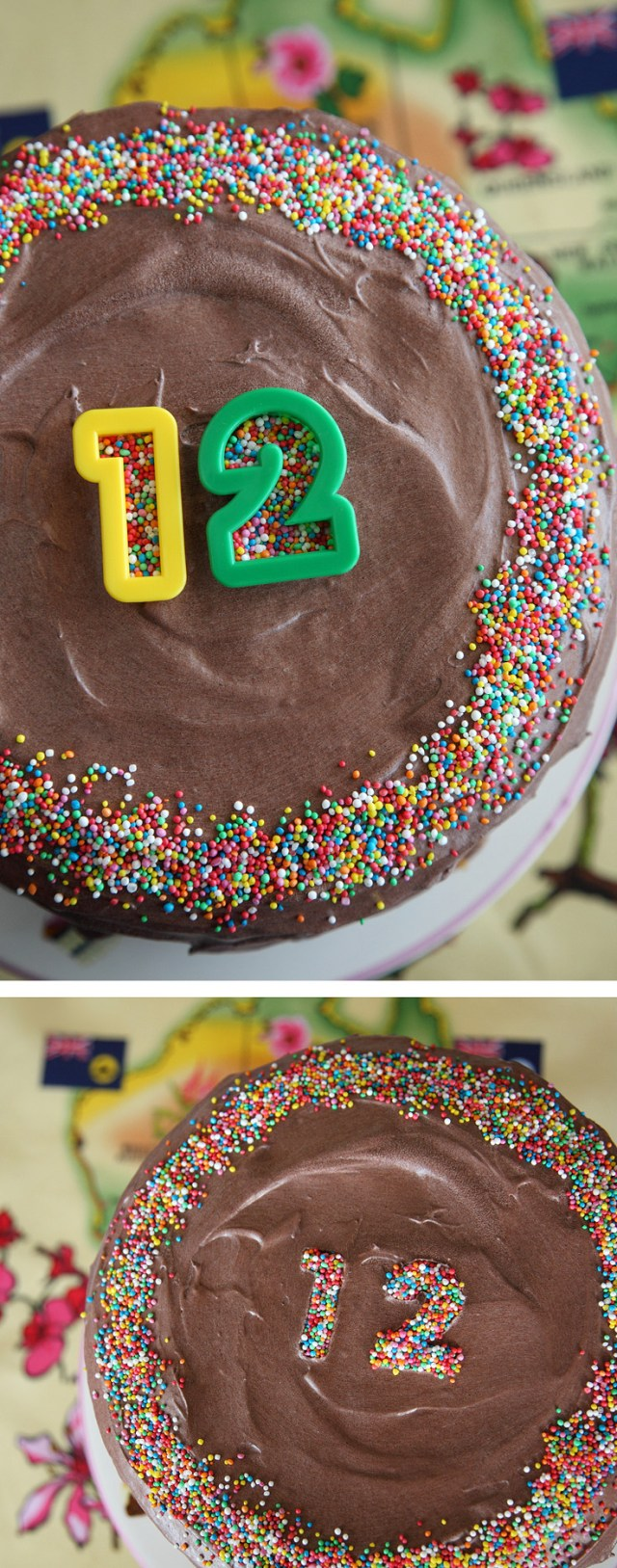 Clever - Use cookie cutters with sprinkles to create a message or write a number on your cake!
