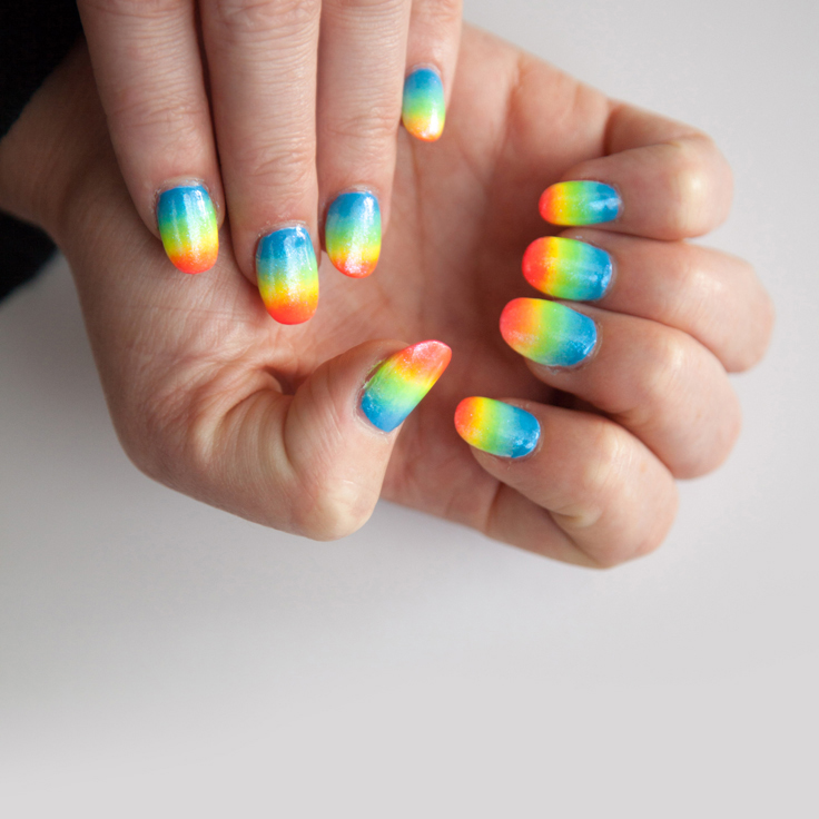 DIY Inspiration: How to make rainbow ombre nails - A Designer Life