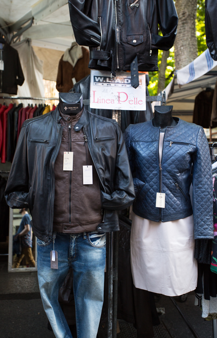 Italian leather jacket outlet from the Saturday markets in Bologna | The  Ultimate Guide to Milan