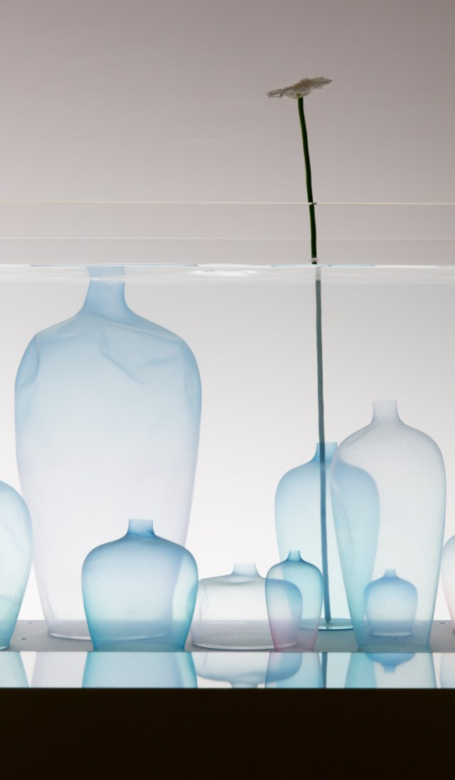 Ombre silicone jellyfish vases spotted at the Nendo : Invisible Objects exhibition | The Ultimate Guide to Milan Design Week
