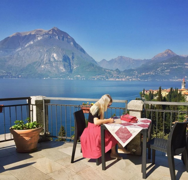 Sketching at Varenna, on the edge of Lake Como by Georgina Kreutzer | The Ultimate Guide to Milan Design Week