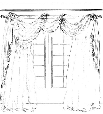 Custom Window Treatment Design by A Design Exclusive Interiors