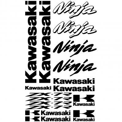 Adesivi follia : Stickers Kawasaki