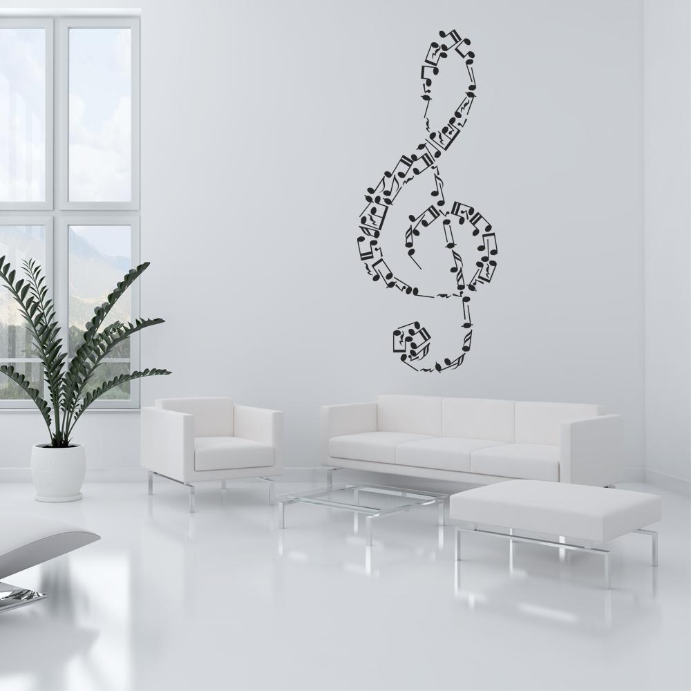 Note musicali di alta qualità musica adesivi murali in pvc soggiorno decalcomanie. Adesivi Follia Adesivo Murale Note Musicali