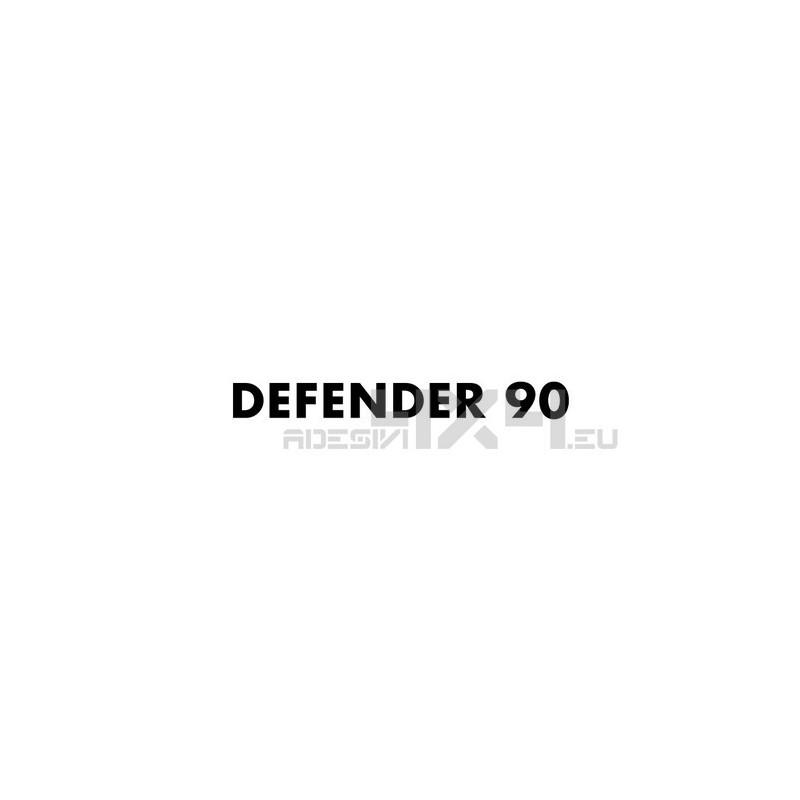adesivo land rover scritta defender 90