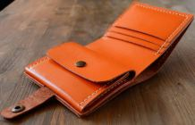 robust-brown leather wallet