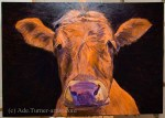 Cow alkyd painting blocking in