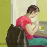 iPad Carole sewing