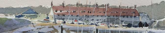Plein air sketches from East Devon and Dorset