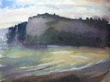 Watercolour - Evening towards Seaton Hole