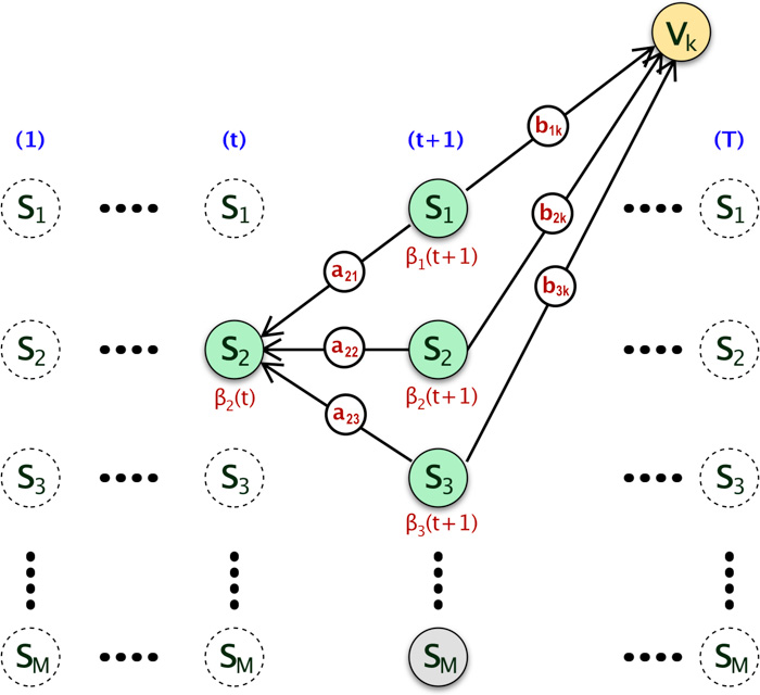Forward and Backward Algorithm in Hidden Markov Model - A