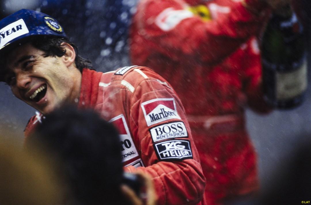 Senna on Podium