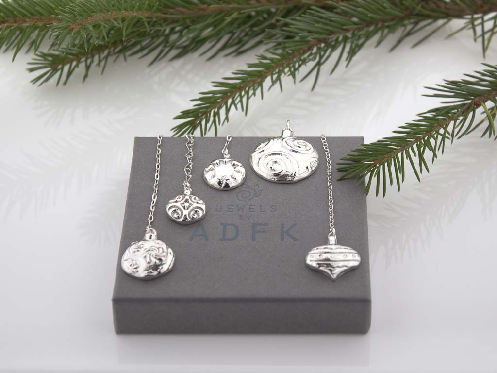 Sterling Silver Christmas Tree Ornaments