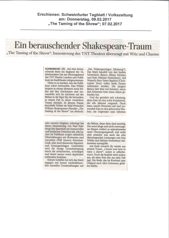 Schweinfurter Tagblatt TTofS