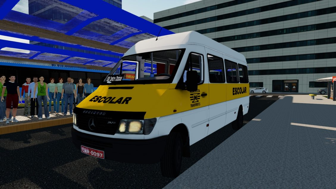Proton Bus Simulator: Van Sprinter 412D Mercedes-Benz (Download) | By: Marceleza