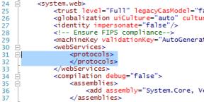 AppCatalog webconfig modified