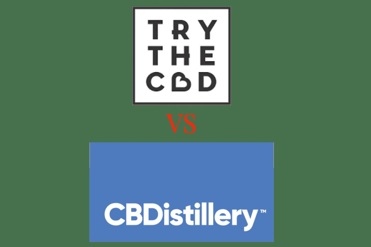 Trythecbd vs CBDistillery, try the CBD vs cbdistillery, cbdistillery, trythecbd, try the CBD, thecbdistillery