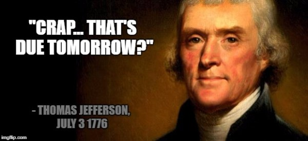 Thomas Jefferson Procrastination