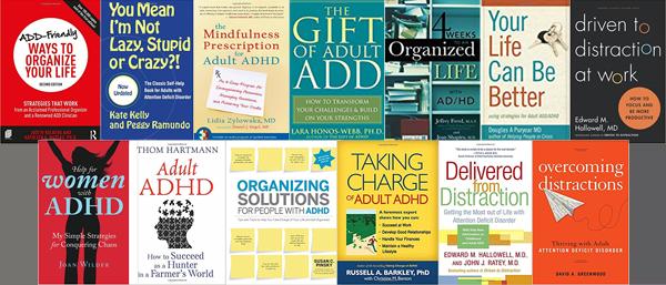 adult adhd bookshelf