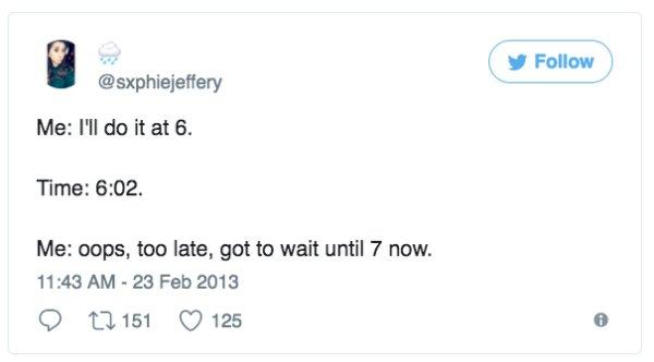 I'll do it at 6. Oops. gotta wait until 7.