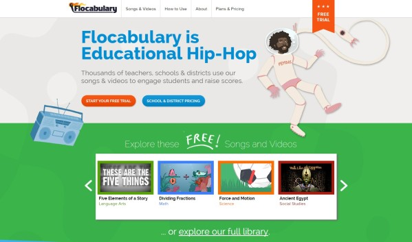 Flocabulary Website to Engage Students with ADHD