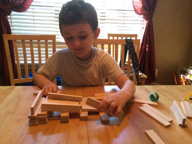 Playing with Keva blocks