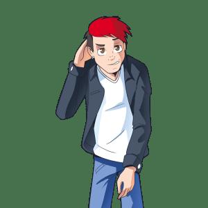 ADHD kid red hair