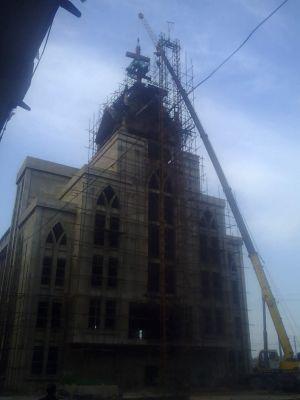 河南省安阳市龙安区申家岗教堂被强拆十字架 2