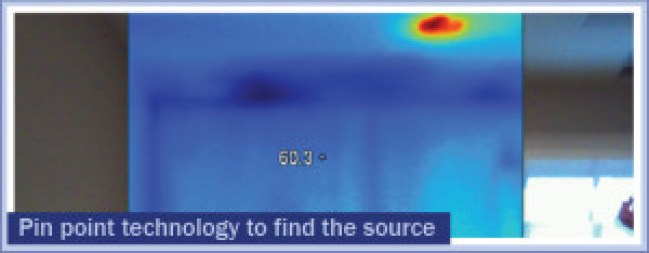 Pin point technology to find the source of water