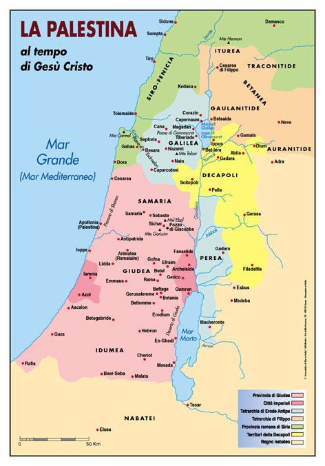 CARTINE BIBLICHE  La Palestina ai tempi di Ges