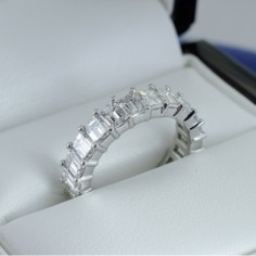 Emerald Cut Diamond Eternity Ring from Adiamor