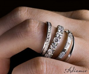 Adiamor's eternity bands on hand