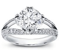 white gold split shank engagement ring
