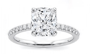 Dainty Diamond Engagement Ring Setting