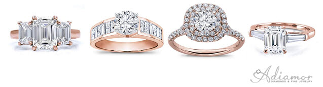 Diamond Rose Gold Engagement Rings