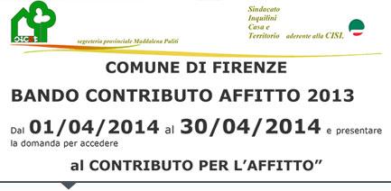 Adiconsum Toscana  BANDO CONTRIBUTO AFFITTO 2016