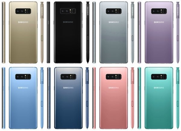 Colores del Samsung Galaxy Note 8