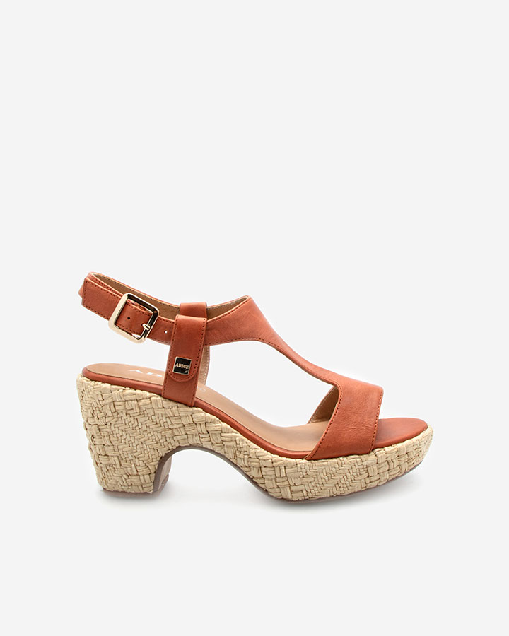 Sandale Romy Brique semi-compensée