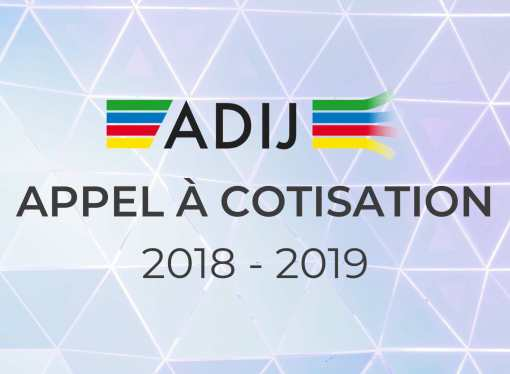 Appel à cotisation 2018 – 2019