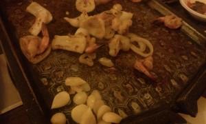 mâncare gătită la un restaurant coreean Antananarivo Madagascar4