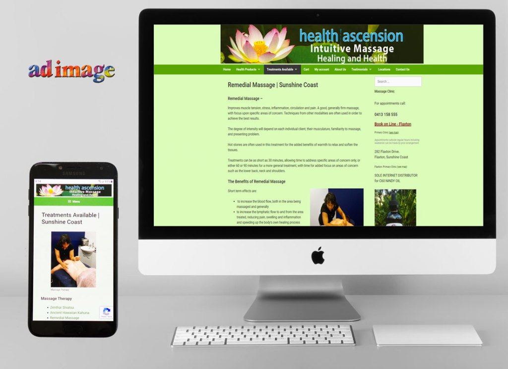 Massage service website