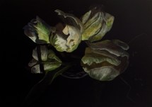 Parrot Tulips (Inverted), inverted digital photograph of watercolor drawing, 2013